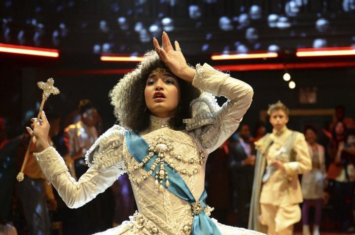 "Indya Moore as Angel in a scene from the new series ""Pose."""