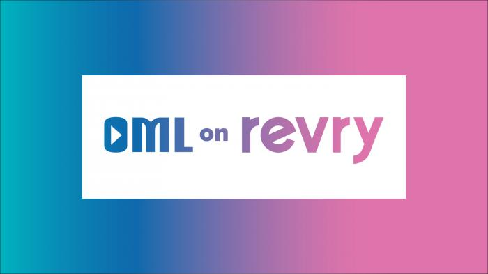 The logo for the online channel OML on Revry, devoted to women in the LGBTQ community.