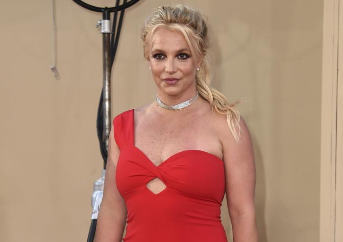 """Britney Spears arrives at the Los Angeles premiere of """"Once Upon a Time in Hollywood"""" on July 22, 2019"""