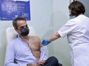 Watch: Greek Prime Minister Turns Heads with Revealing Pic of COVID-Vaccine Shot